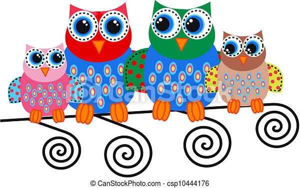 owl family - csp10444176
