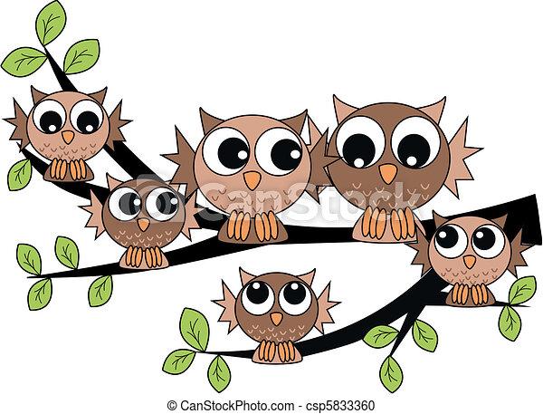 owl family  - csp5833360