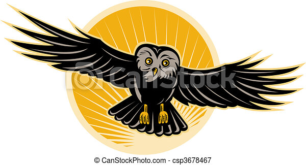 illustration of an owl flying front view stock snow clip art background snow clip art images