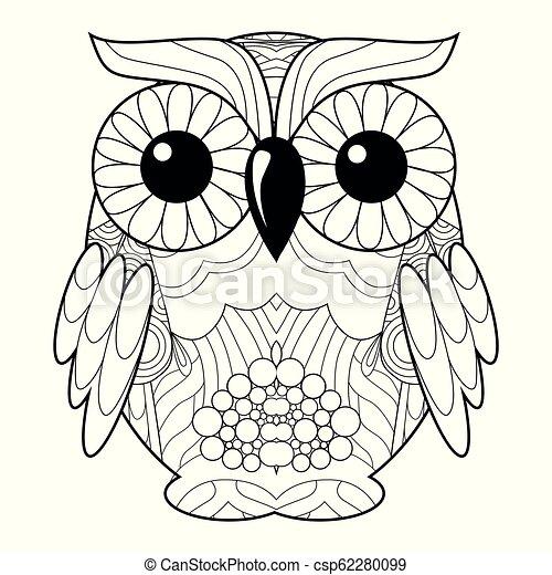 88+ Coloring Book Owl HD