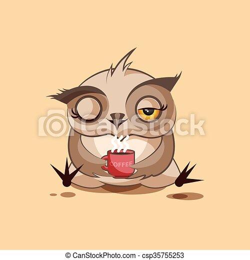Owl Good morning - csp35755253