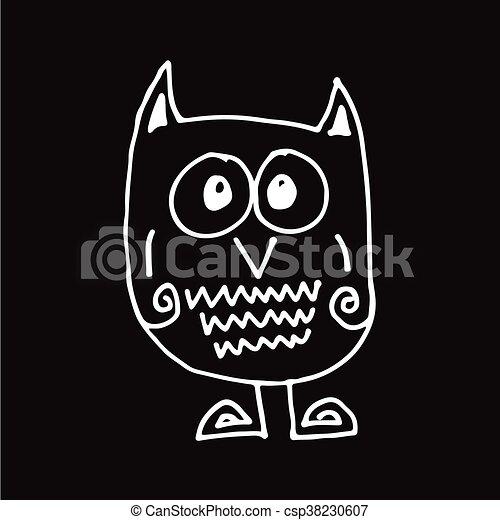 owl Hand draw Illustration design - csp38230607