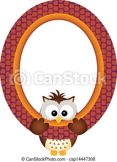 Scalable vectorial image representing a owl hanging in a... vector ...