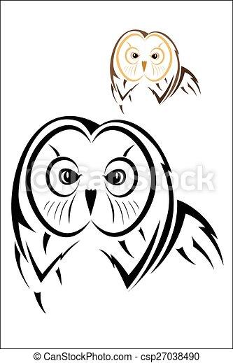 Owl head - csp27038490