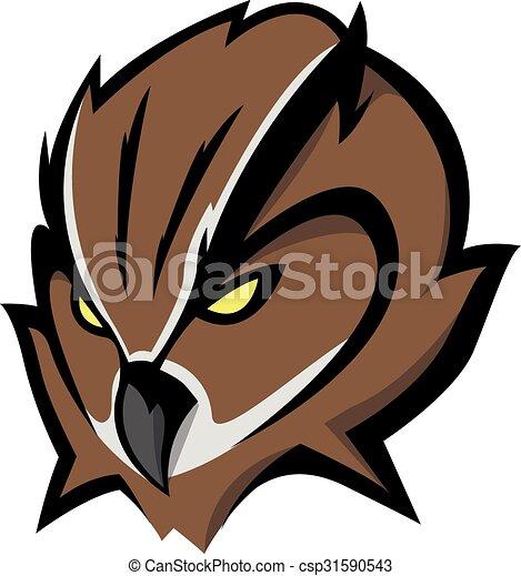 Owl head Illustration design - csp31590543