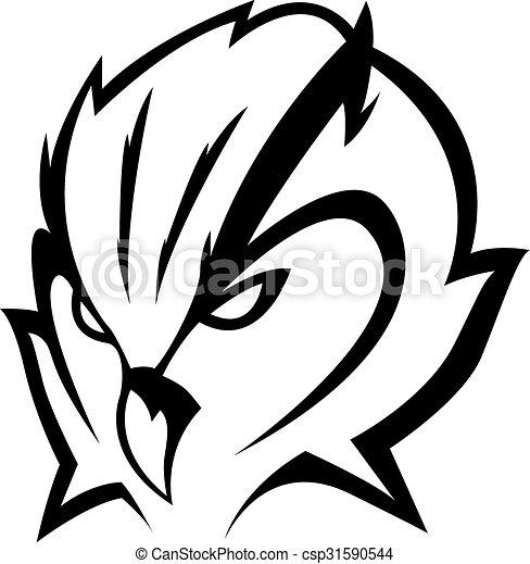 Owl head Illustration design - csp31590544