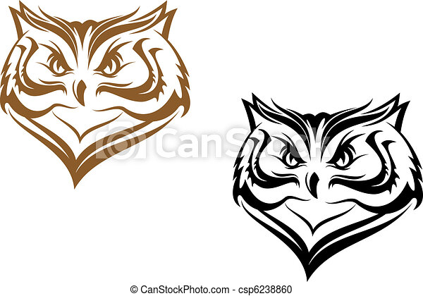 Owl head - csp6238860