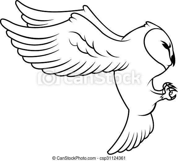 Owl Illustration design - csp31124361