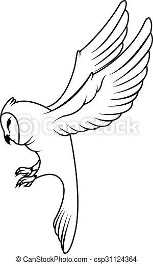 Owl Illustration design - csp31124364