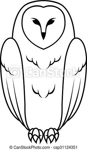 Owl Illustration design - csp31124351