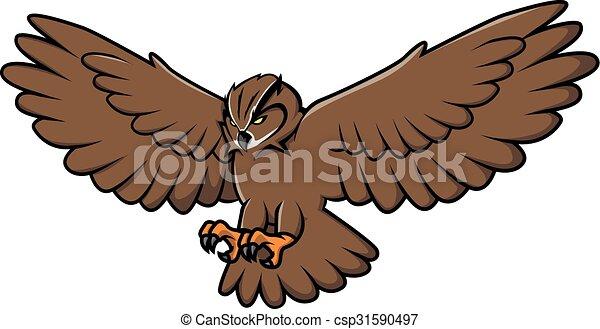 Owl Illustration design - csp31590497