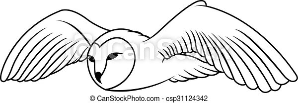 Owl Illustration design - csp31124342