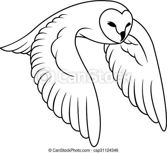 Owl Illustration design - csp31124346