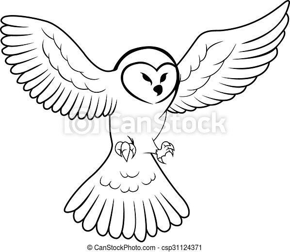 Owl Illustration design - csp31124371