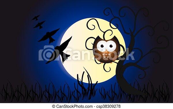 Owl illustration - csp38309278