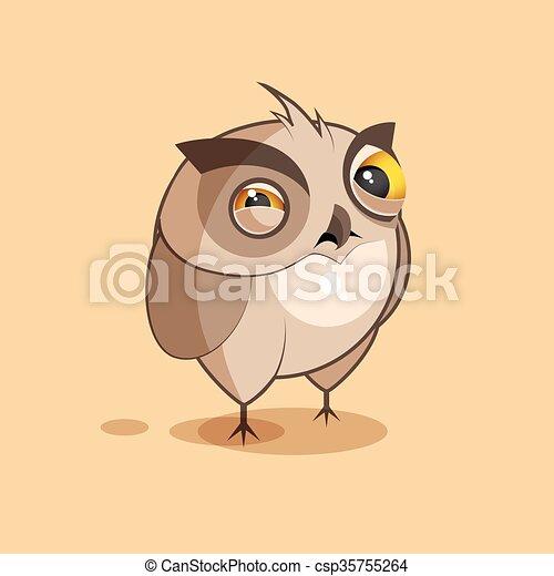 Owl is squints - csp35755264