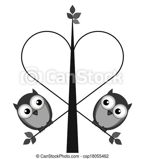 Owl lovers - csp18055462