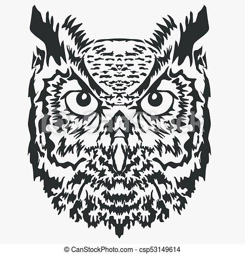 owl mascot head character illustration vector owl black mascot rh canstockphoto com vector owner vector bowling