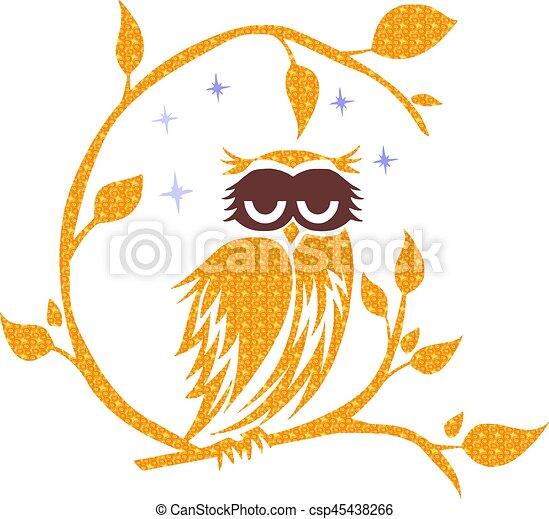 Owl, Night - csp45438266