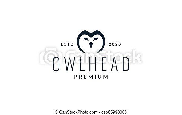 owl or owlet head line modern logo vector illustration design - csp85938068