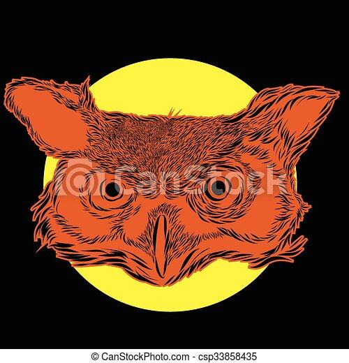 Owl Spirit cartoon character design - csp33858435
