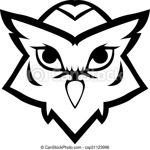 Owl symbol illustration design - csp31123996