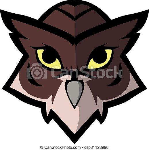 Owl symbol illustration design - csp31123998