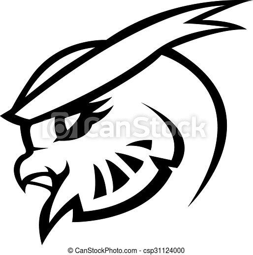 Owl symbol illustration design - csp31124000
