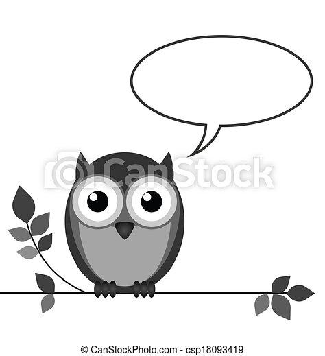 Owl talk - csp18093419