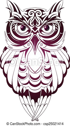vector illustration with owl tattoo isolated on white vector clip rh canstockphoto com owl clip art vector Owl Graphic Art