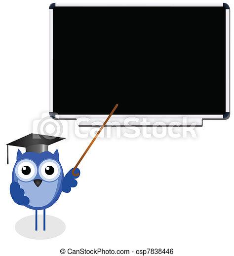 Owl teacher - csp7838446