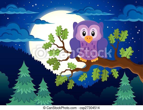 Owl topic image 1 - csp27304514