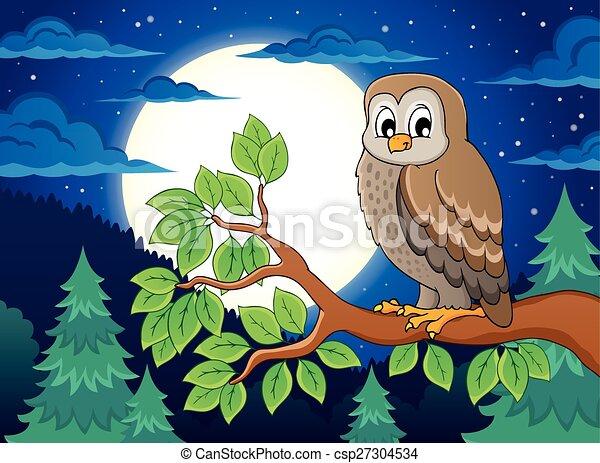 Owl topic image 4 - csp27304534