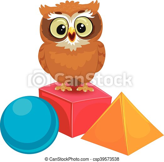 owl with geometric shapes csp39573538