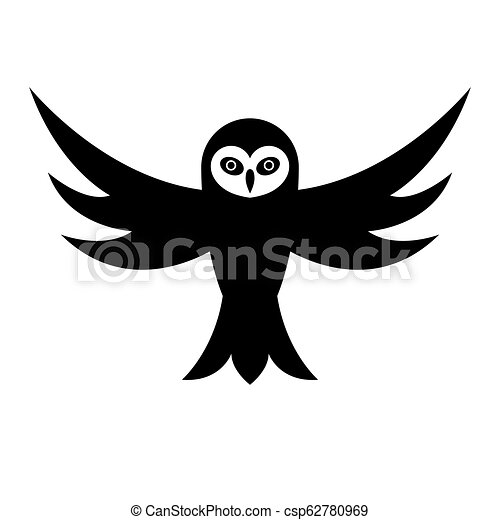 Owl with open wings - csp62780969