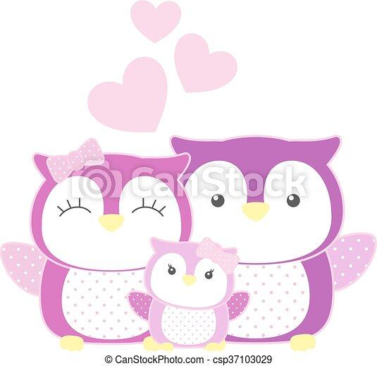 owls family - csp37103029