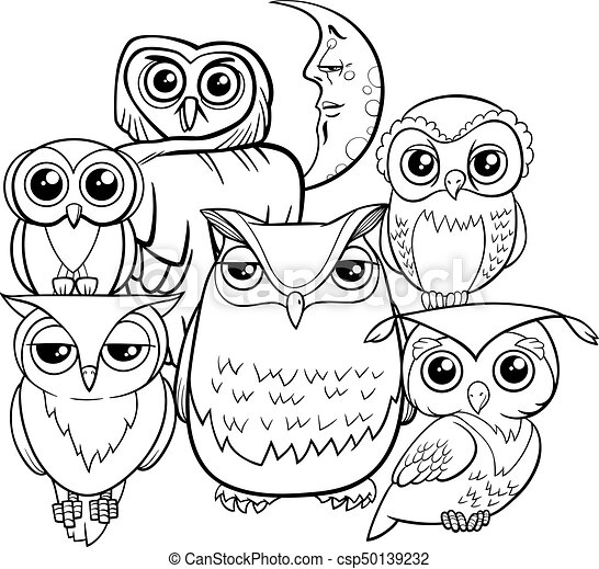 45 Black And White Coloring Book Owl HD