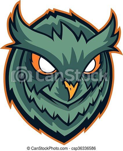 Owls head mascot - csp36336586