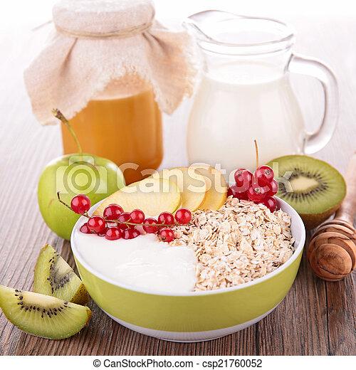 owoc, mleczny, zboże - csp21760052