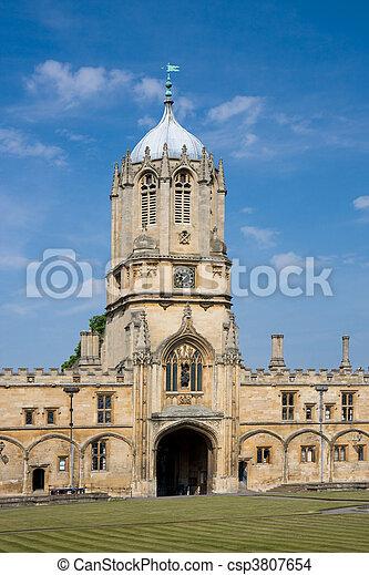 La torre de la iglesia de Cristo, Universidad de Oxford - csp3807654
