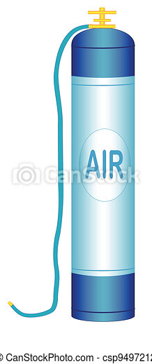 Oxygen cylinder - csp9497212