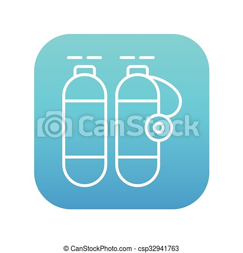 Oxygen Tank Line Icon Oxygen Tank Line Icon For Web Mobile And