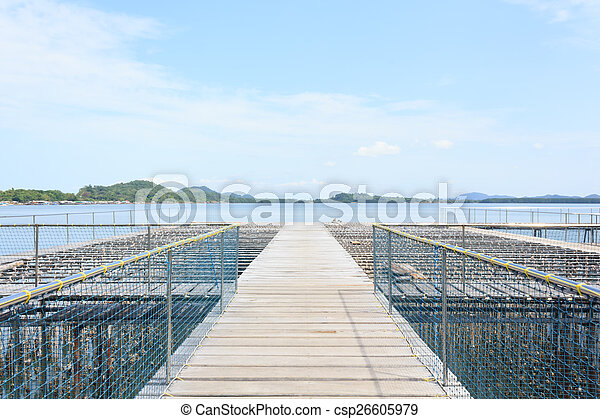 Oyster Farm in the sea - csp26605979