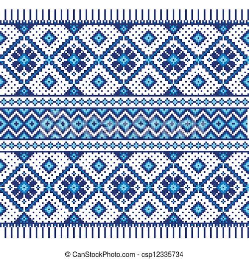 ozdoba, etniczny, seamless, próbka - csp12335734