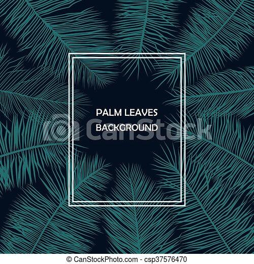 ozdoba, liście, dłoń - csp37576470