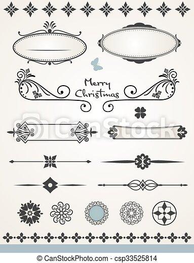 página, decorações - csp33525814
