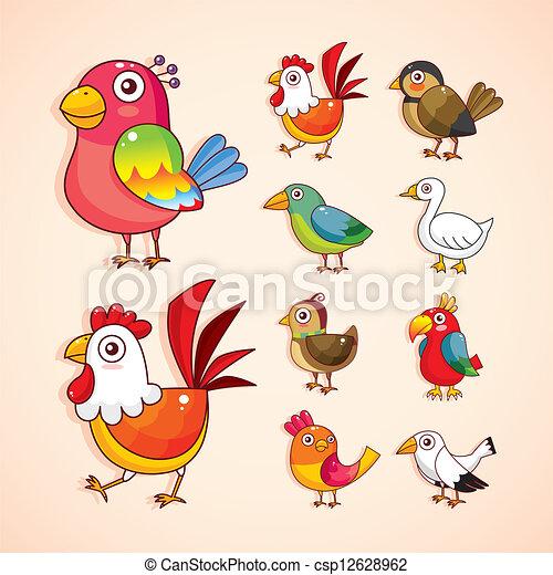 El icono del pájaro cartoon - csp12628962