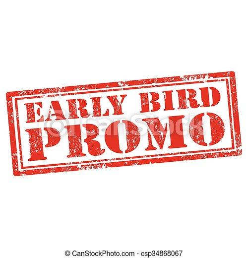 Promoción de aves madrugadoras - csp34868067