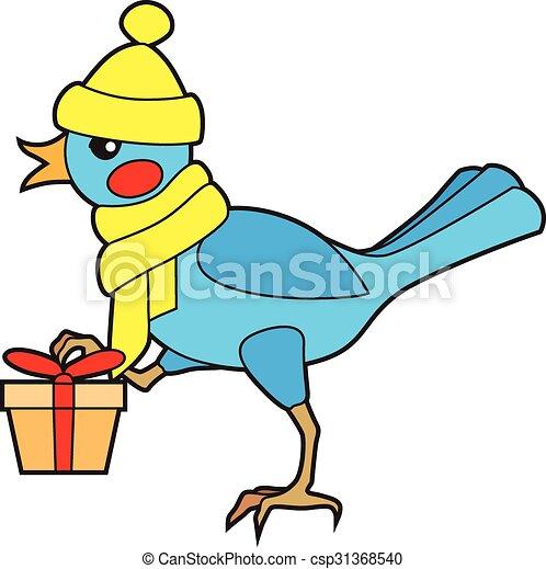 Pájaro con regalo - csp31368540
