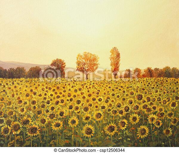 Pamatky Leto Zlaty Plachtovi Nafta Barevny Slunecnice Peloton